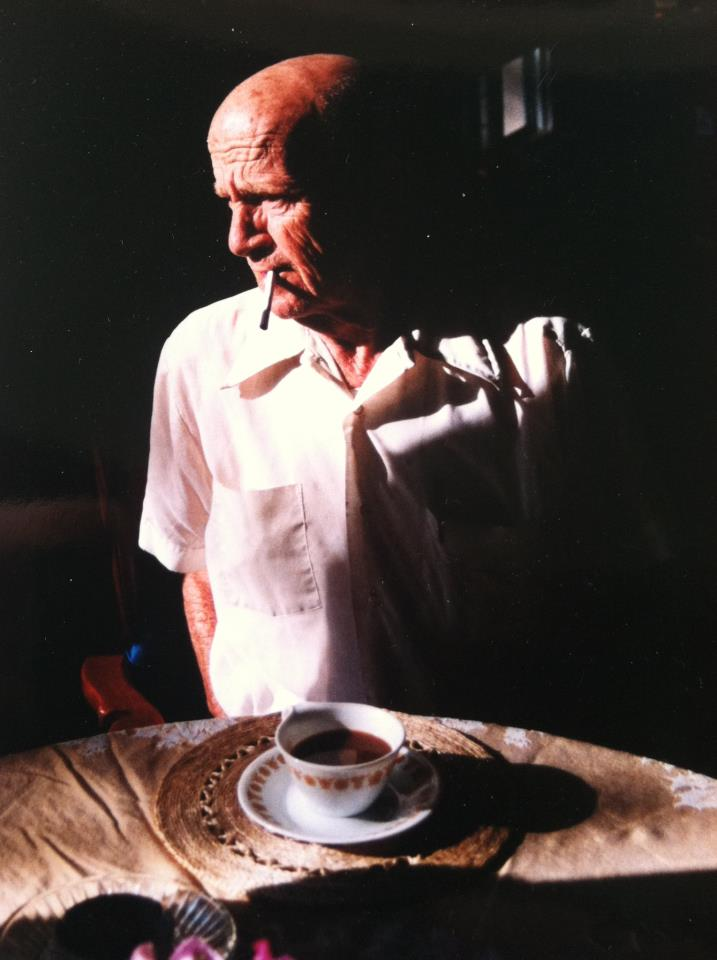 Beautiful portrait of my cigarette-smoking, coffee-loving uncle, by his granddaughter Nicole Payton Vanek