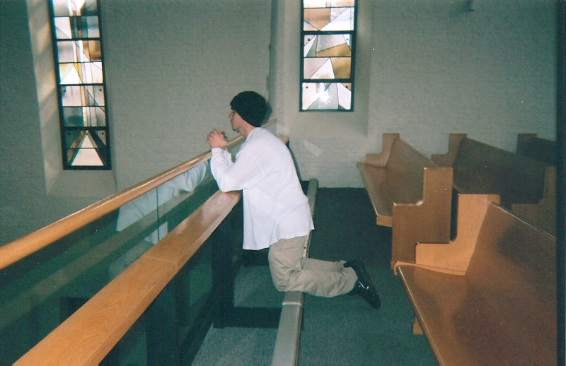On retreat at Gethsemani Abbey, age 18