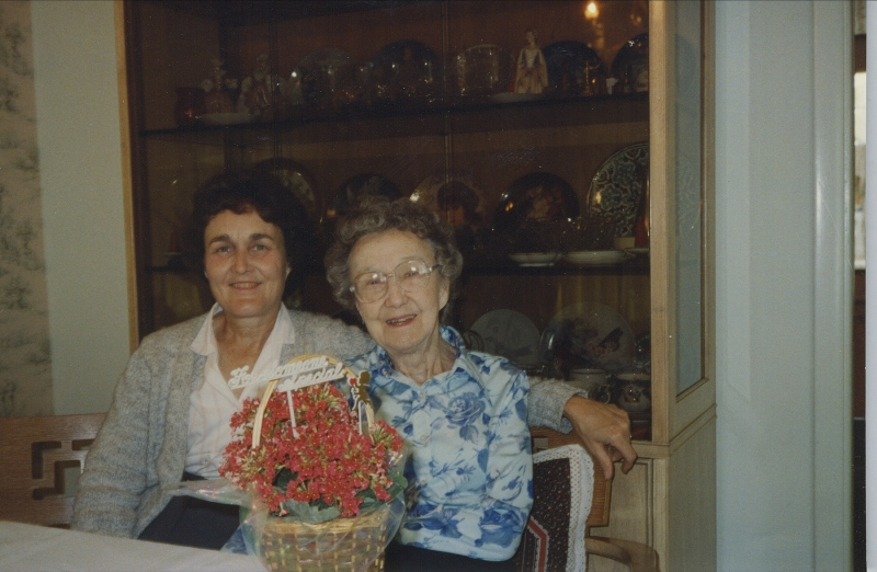 My mother-in-law and grandmother-in-law, Evelyn and Helen